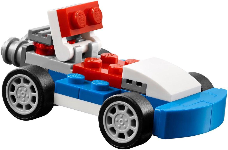 Xe đua màu xanh Lego