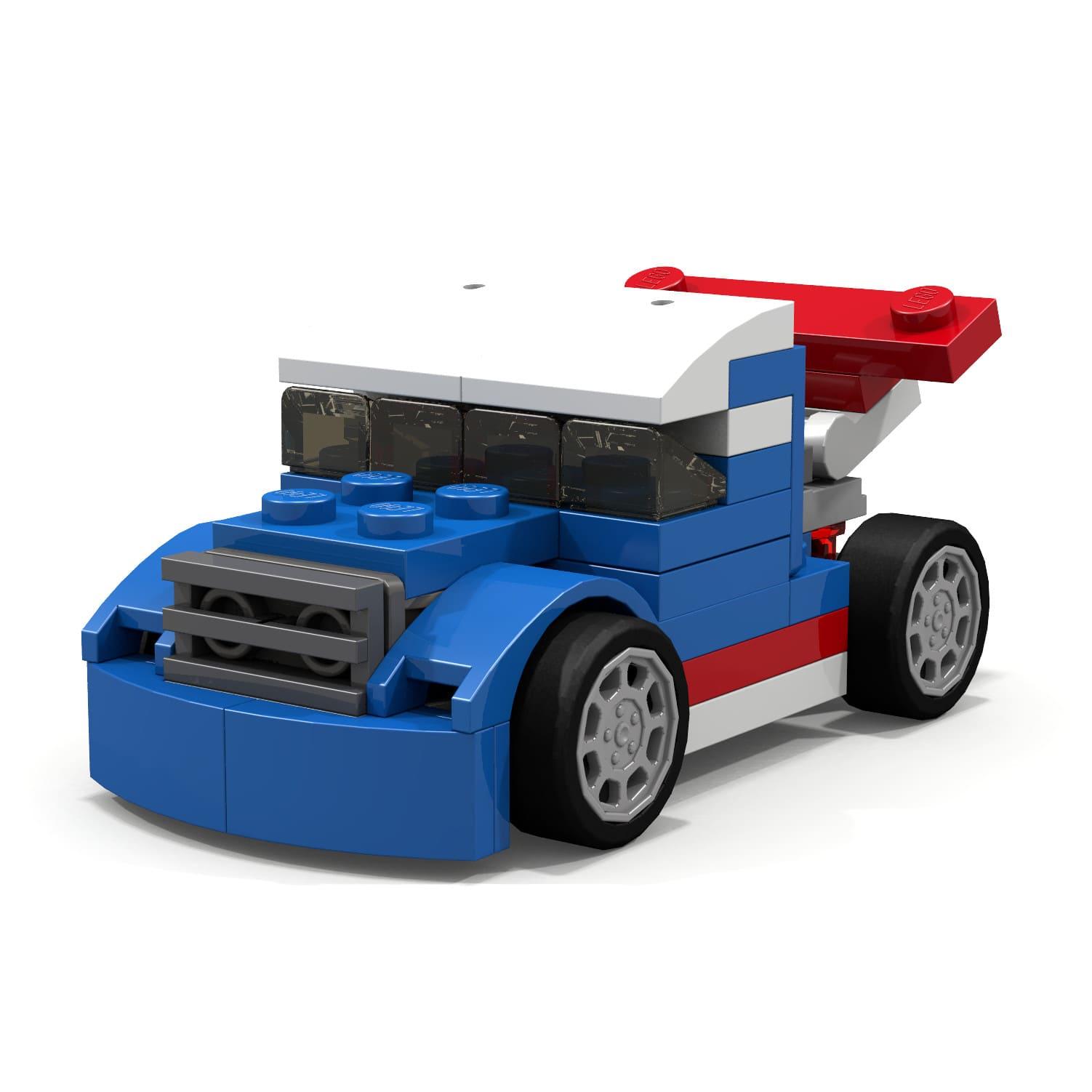 Xe đua Lego màu xanh