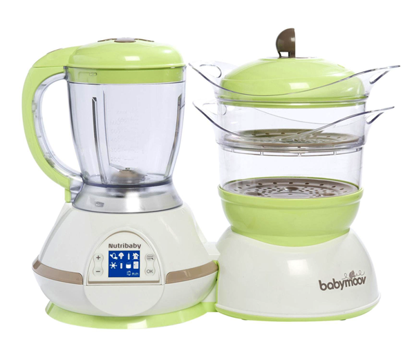 Máy chế biến thức ăn Babymoov Nutribaby 5 in 1 màu xanh 5