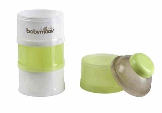 Hộp chia sữa Babymoov 4 tầng màu xanh 1
