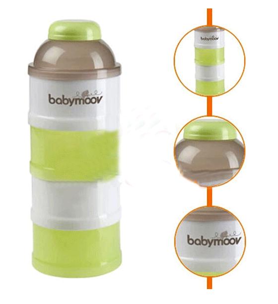 Hộp chia sữa Babymoov 4 tầng màu xanh 2