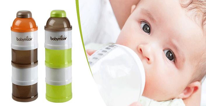 Hộp chia sữa Babymoov 4 tầng màu xanh 3