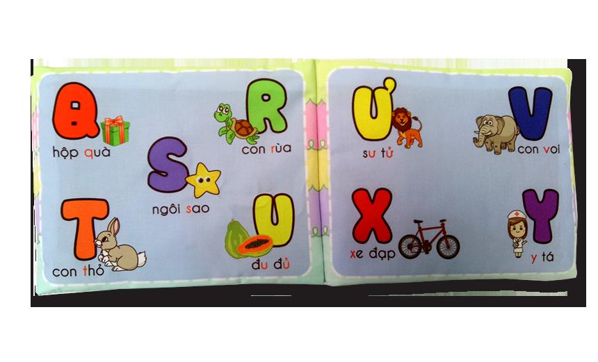 Kết quả hình ảnh cho Sách vải Pipo Việt Nam (chữ cái tiếng Việt) - Sản phẩm giúp bé yêu vừa học vừa chơi