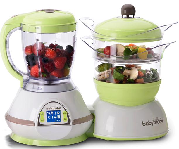 Máy chế biến thức ăn Babymoov Nutribaby 5 in 1 màu xanh 6
