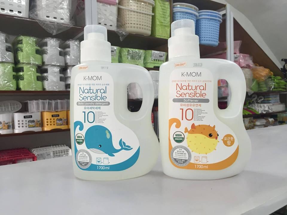 Nước giặt đồ sơ sinh hữu cơ KMOM Hàn Quốc 1700ml 2