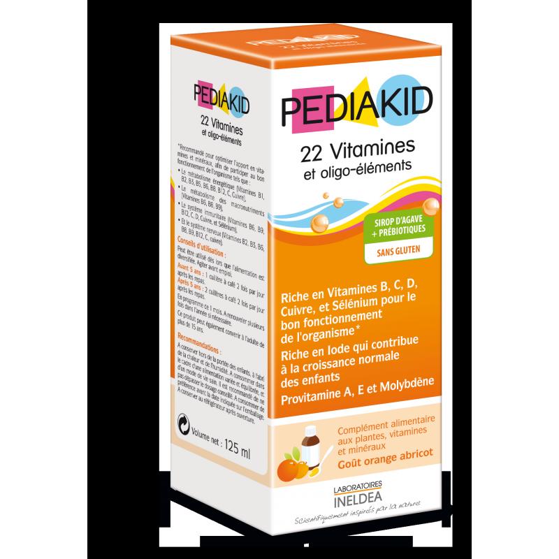 Vitamin PediaKid tổng hợp bổ sung 22 vitamin (125 ml, nội địa Pháp) 1