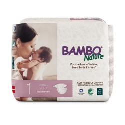 Bỉm dán Bambo Nature New born 1  (2-5kg)