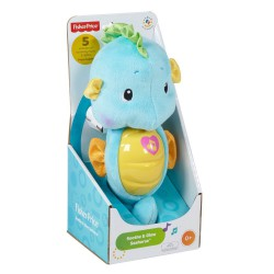 Cá ngựa ru ngủ Fisher Price Soothe & Glow Seahorse (xanh)
