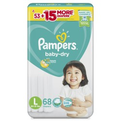 Bỉm dán Pampers jumbo Philippines L68