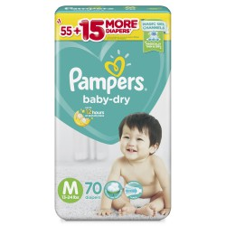 Bỉm dán Pampers jumbo Philippines M70