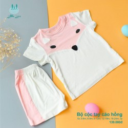 Bộ cộc tay Lil little love smoothy con cáo 6-9m